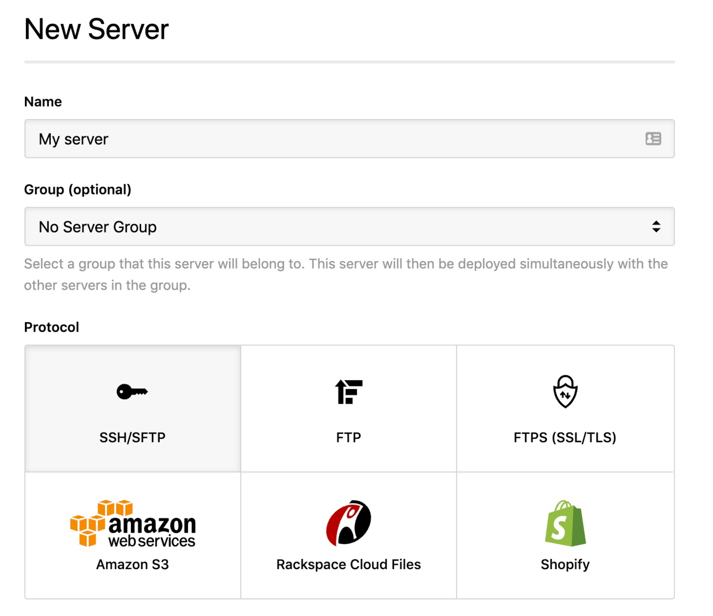Adding a new server
