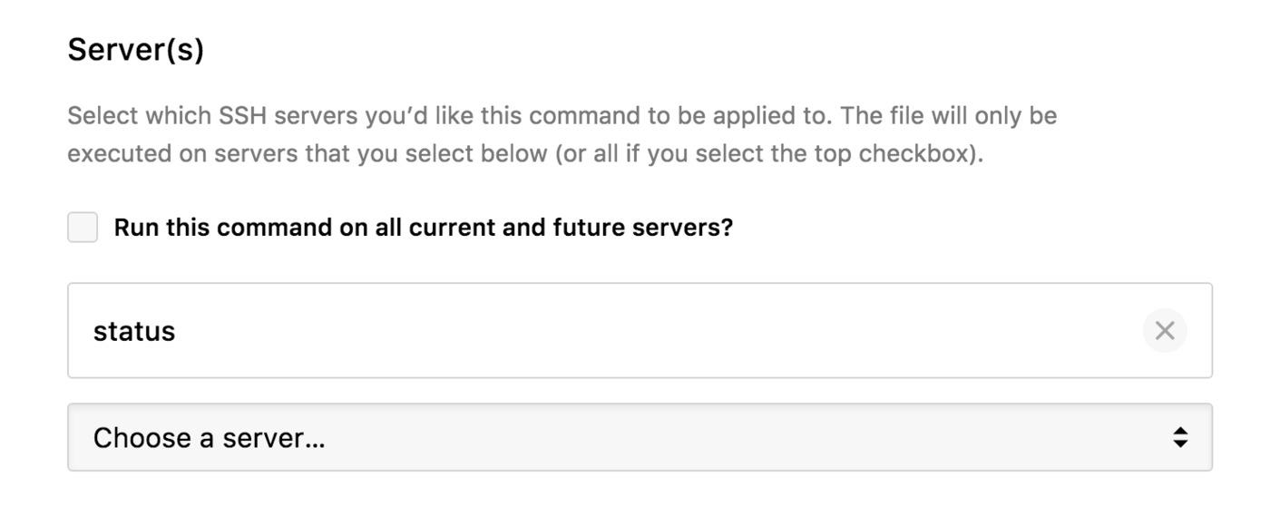 Specific servers