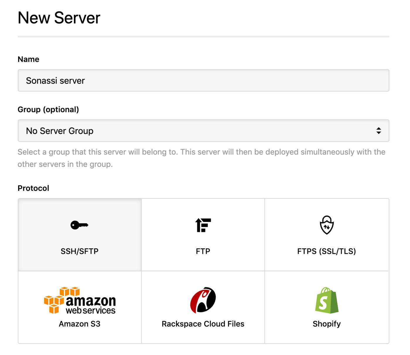 Sonassi - SSH server