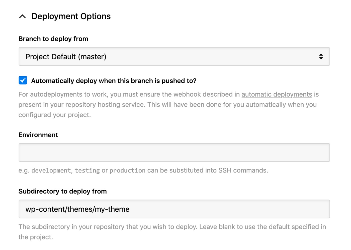 Flywheel - deployment options