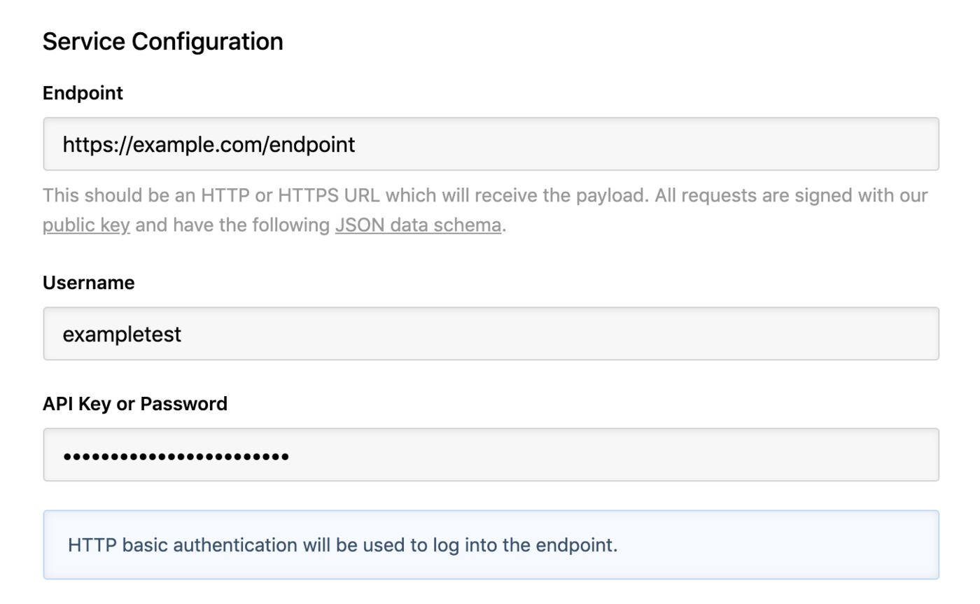 HTTP POST integration