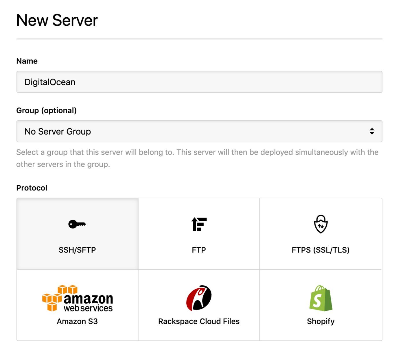 DigitalOcean - SSH server