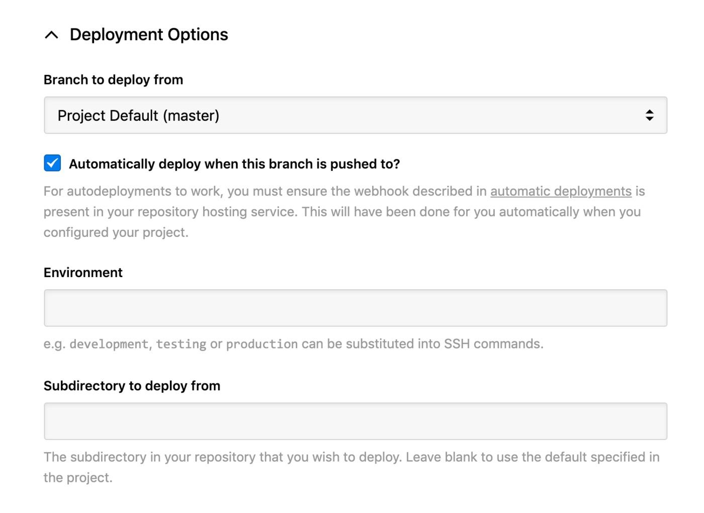 DigitalOcean - deployment options