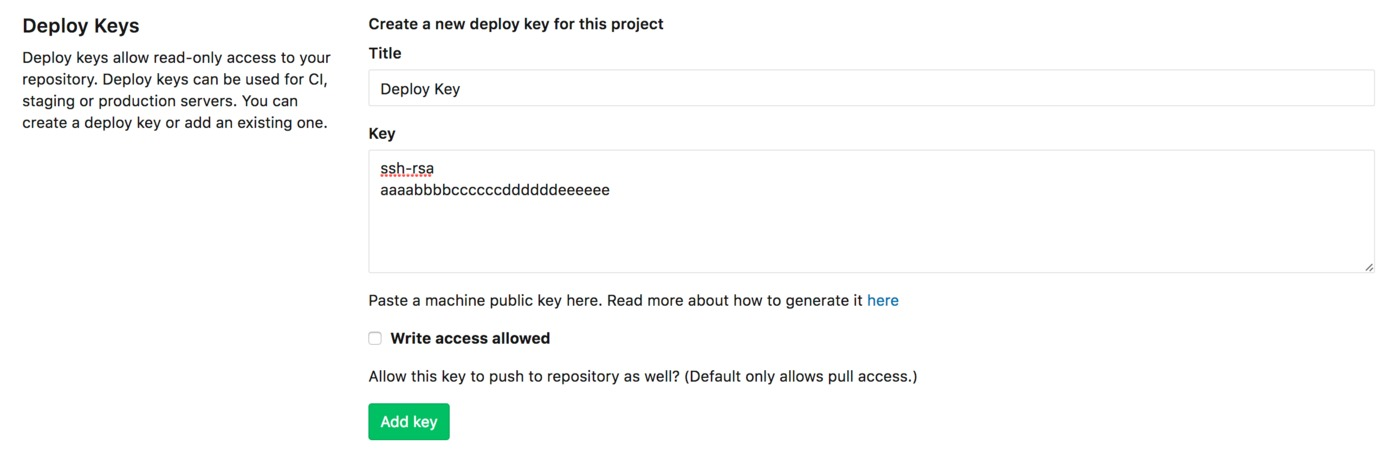Deploy Keys in GitLab