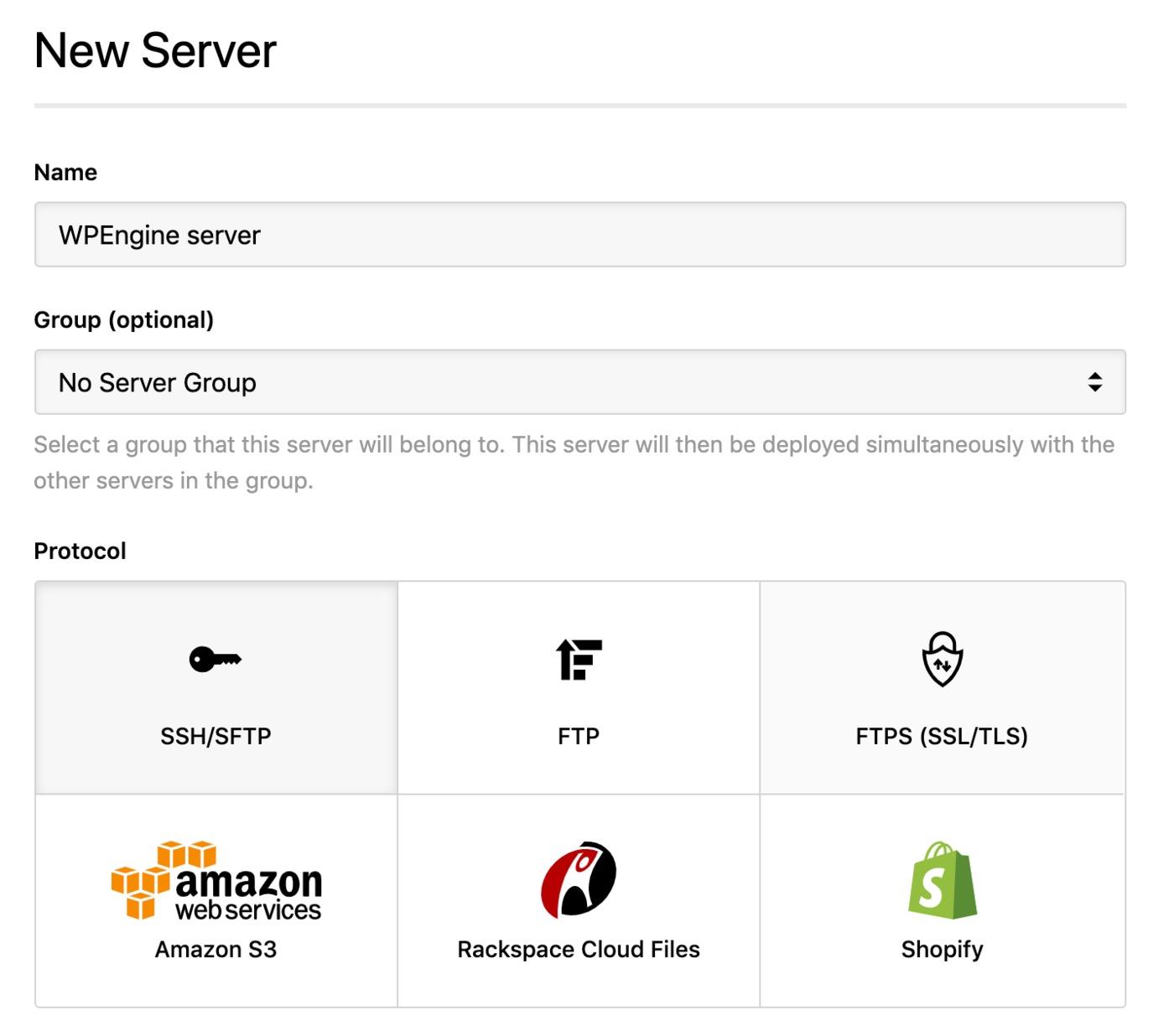 WPEngine - new server
