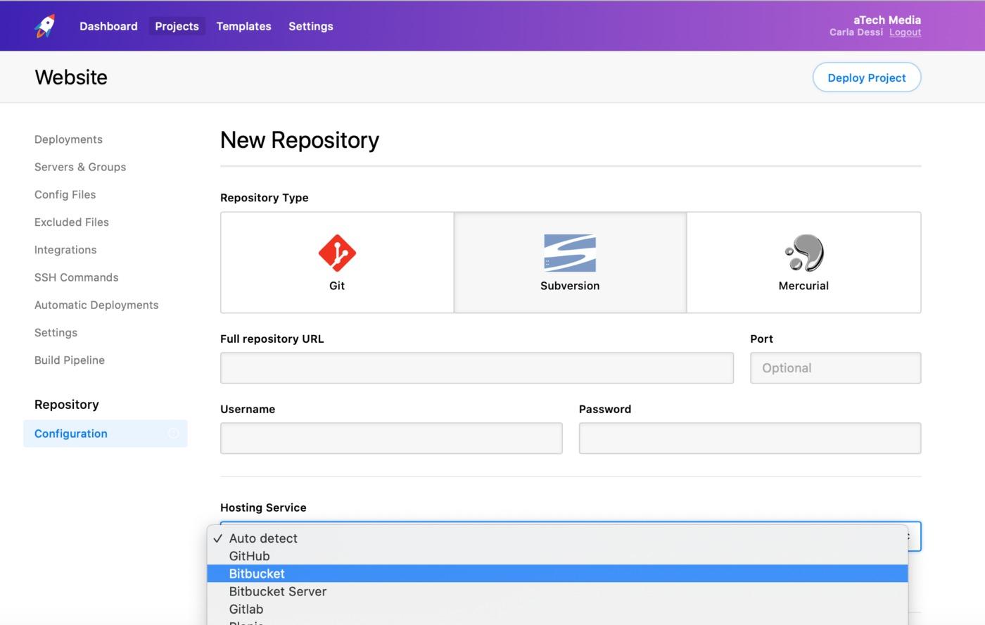 Repository Host