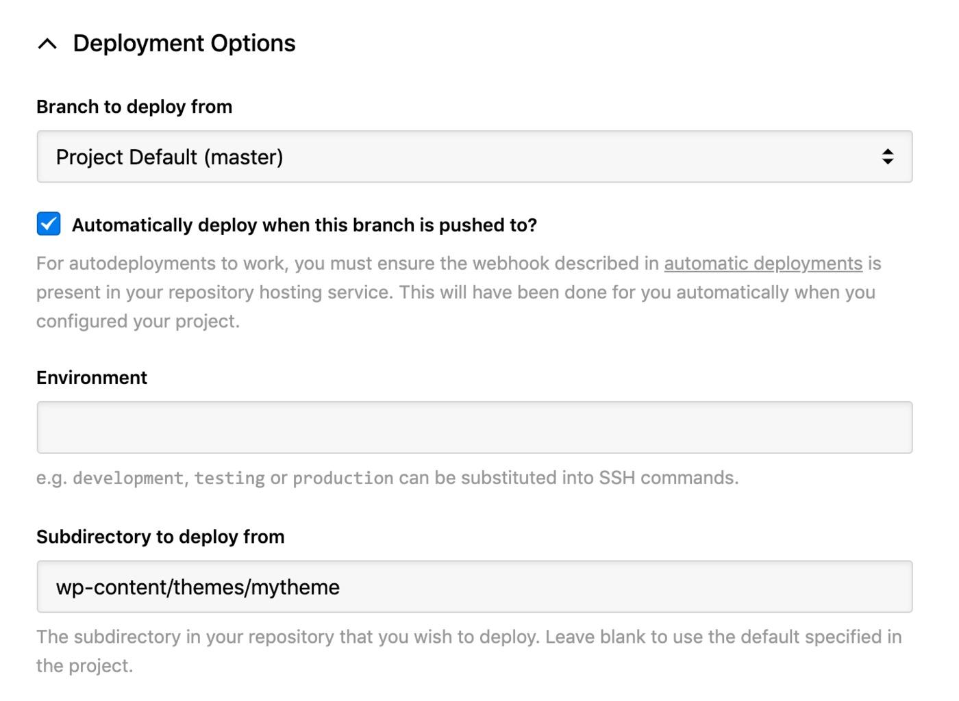 Nexcess - deployment options