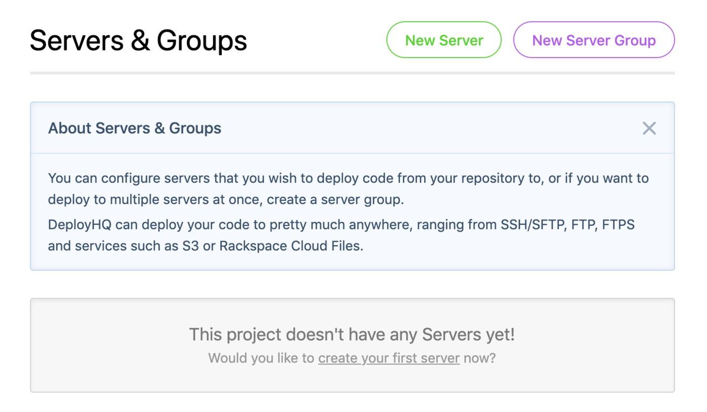 Servers & Groups