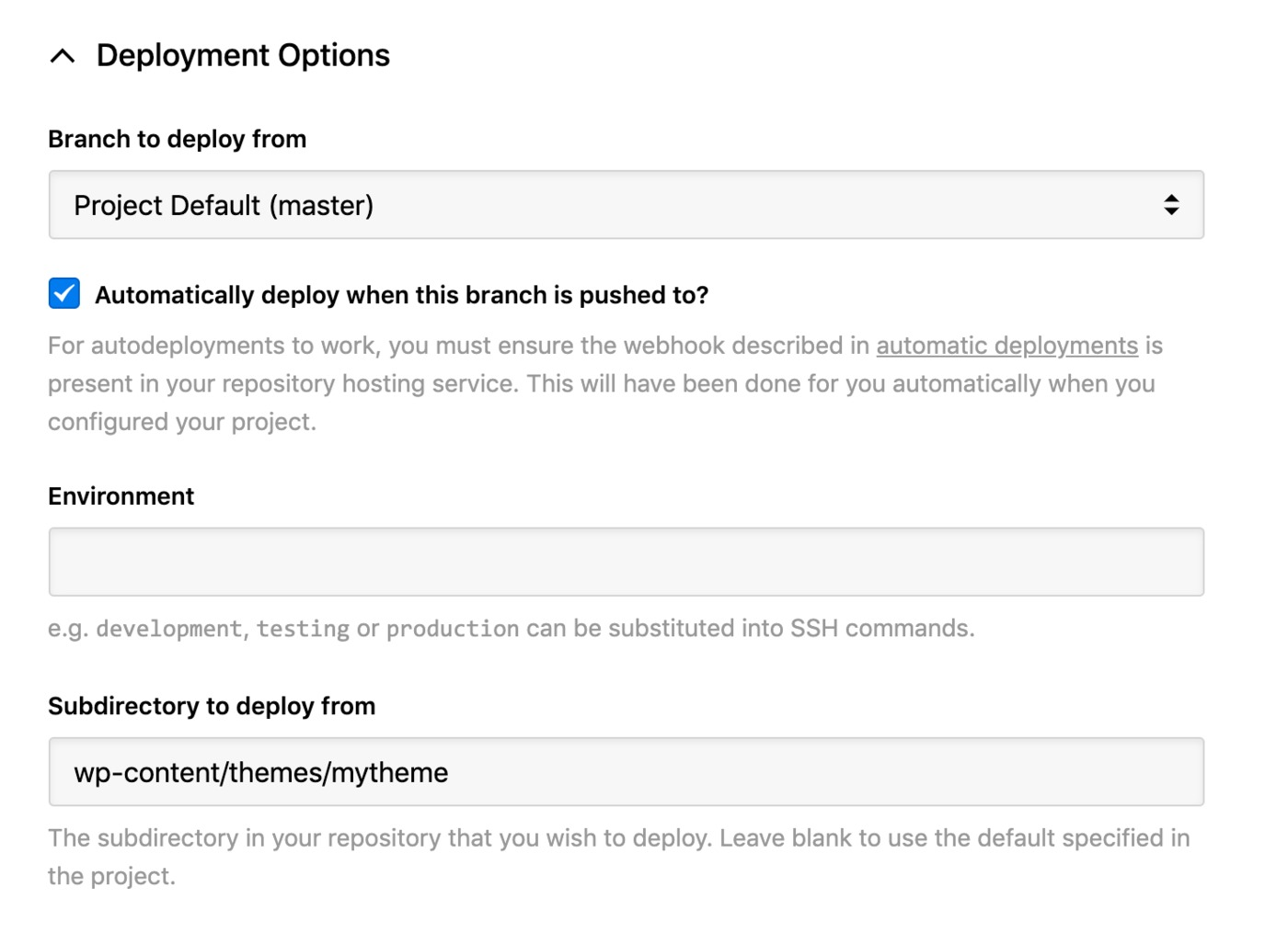 GoDaddy - deployment options