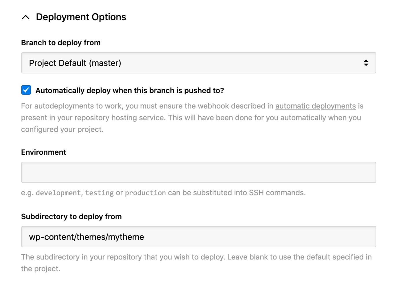 Krystal - deployment options