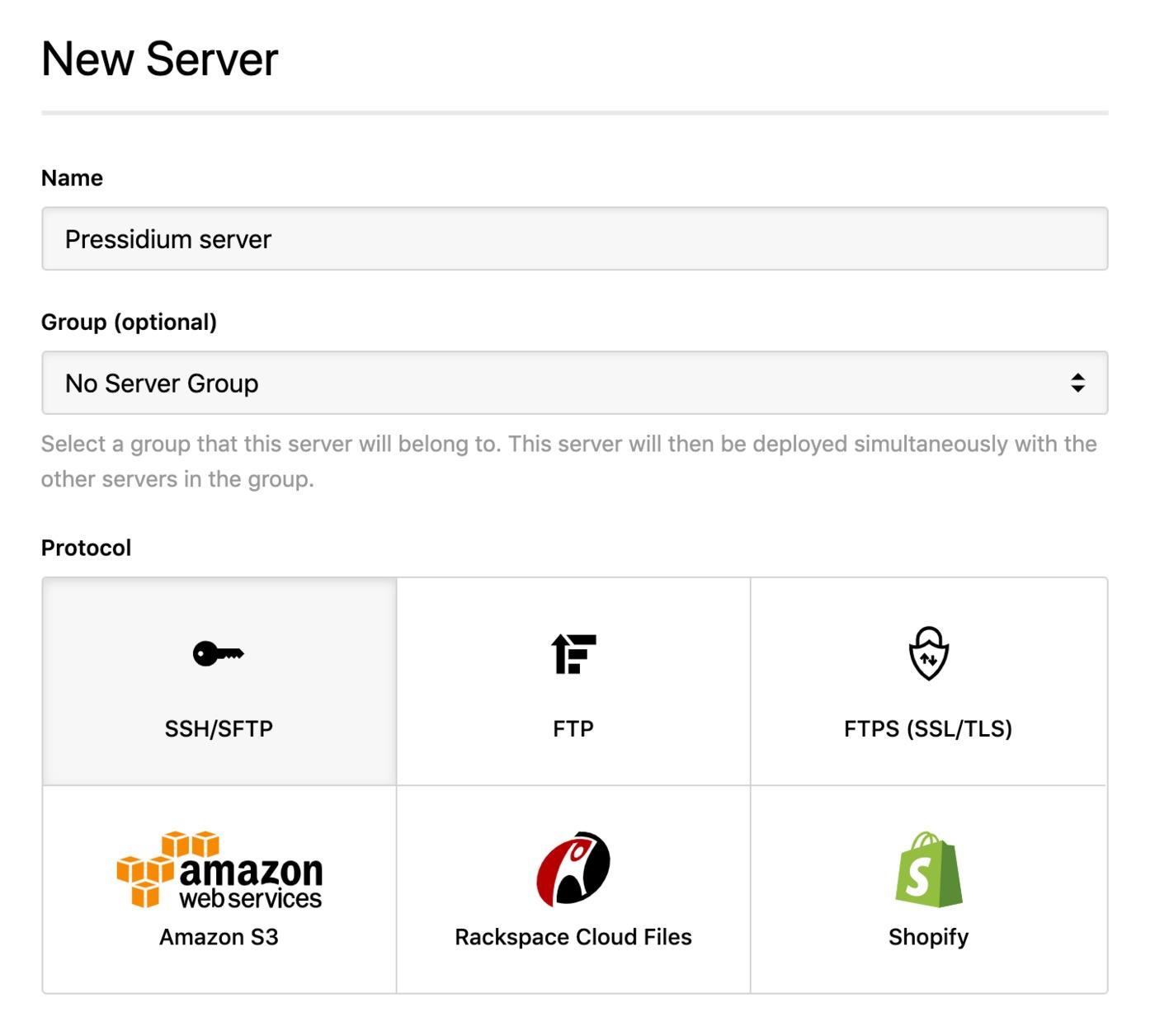 Pressidium - SSH server