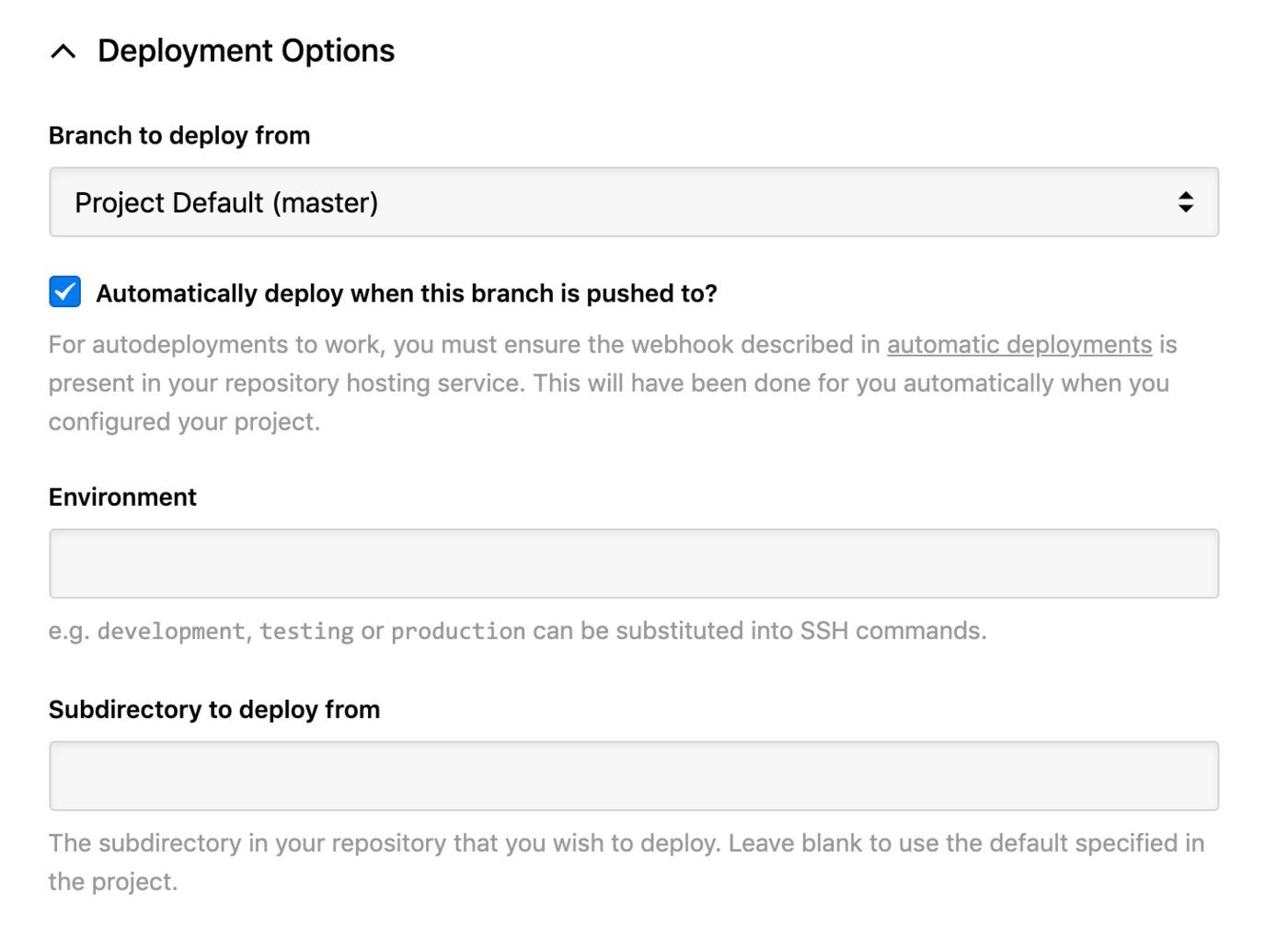 Sonassi - deployment options