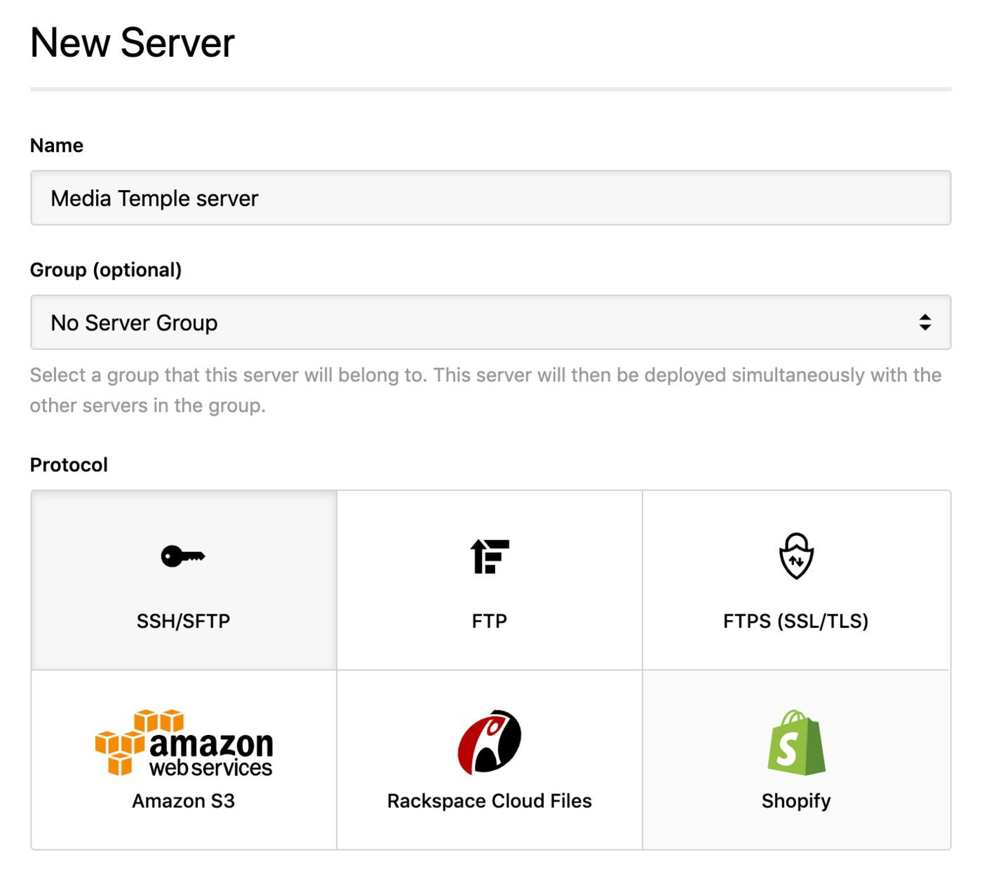 Media Temple - SSH server