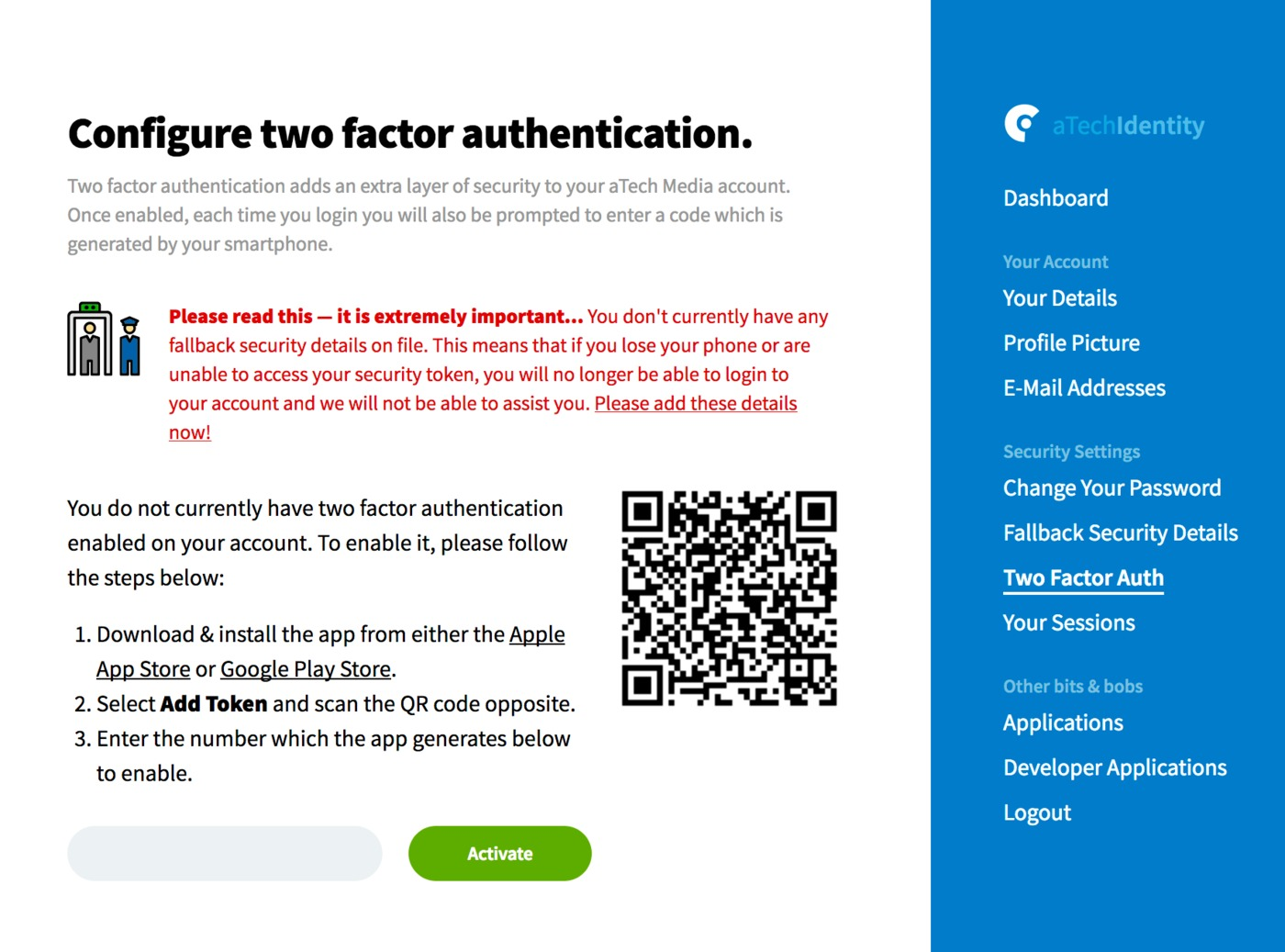 2 factor authentication - Nadi palmex co