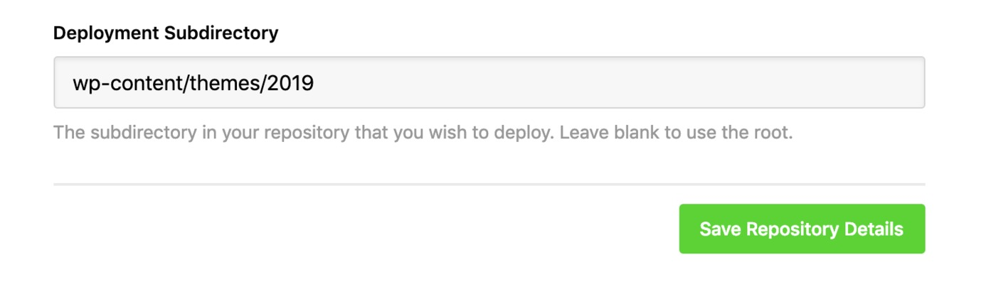 Example deployment subdirectory