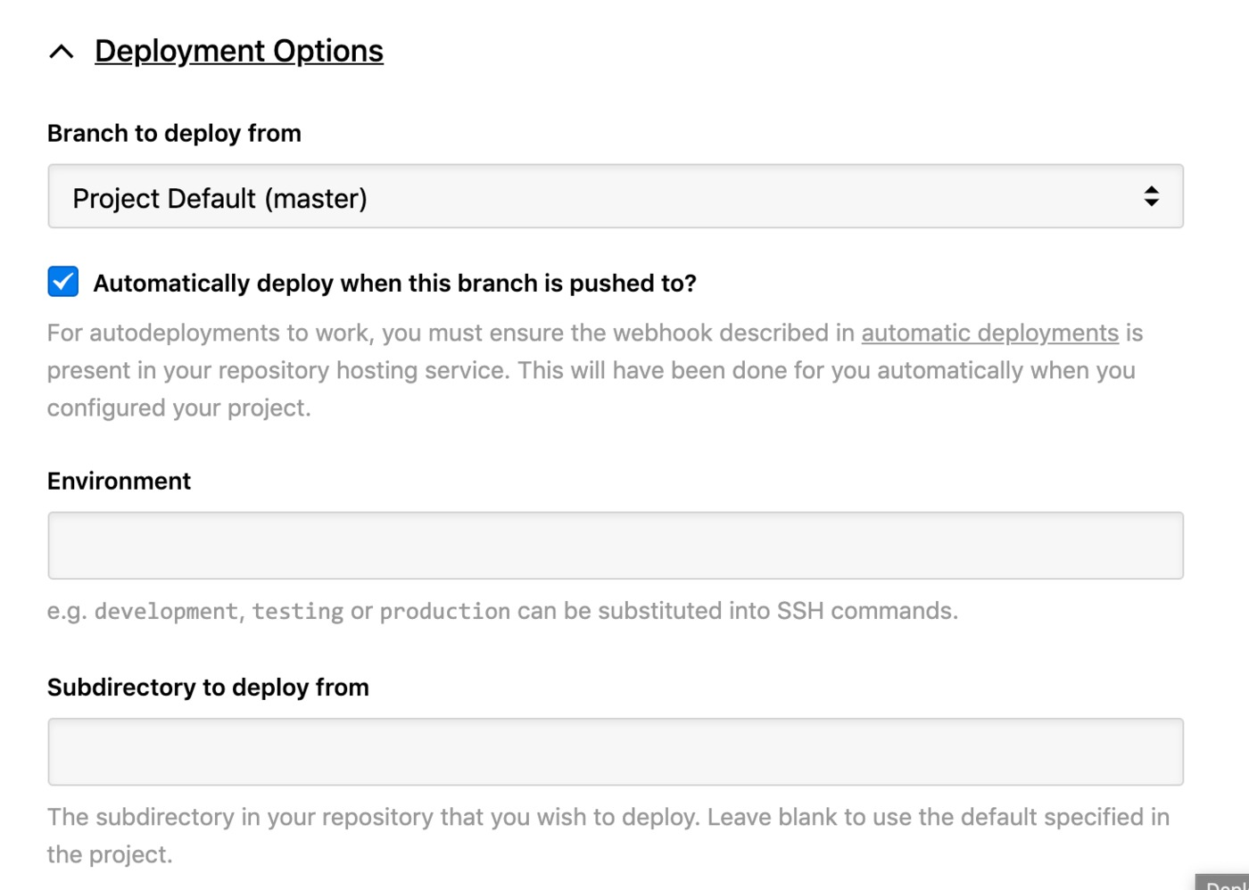 WordPress deployment options